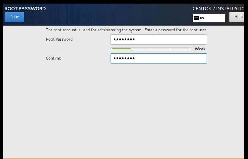 配置ROOT PASSWORD 超级管理员密码